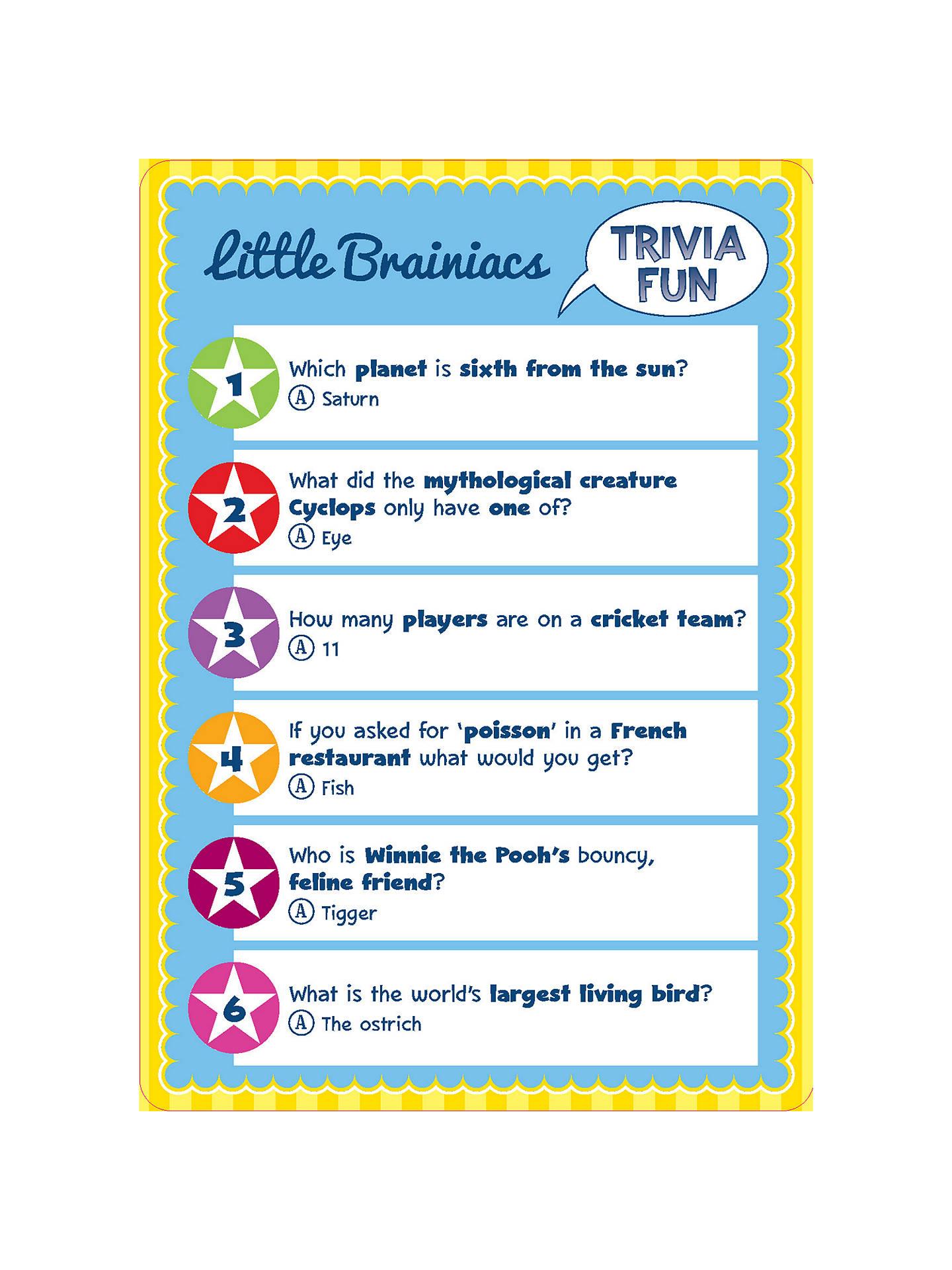 Professor Murphy's Emporium of Entertainment Trivia Fun Quiz Cards