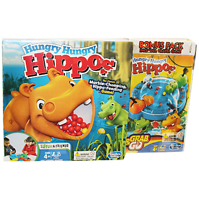 Image of Hungry Hippos Full Game & Travel Game