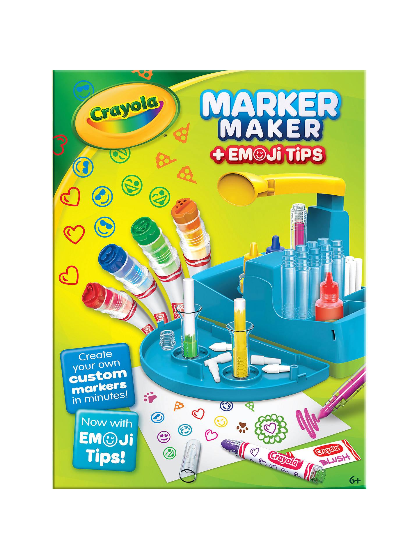 Crayola Marker Maker with Emoji Tips at John Lewis & Partners
