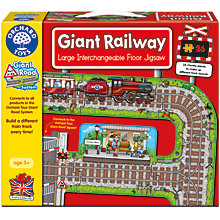 Buy Orchard Toys Giant Railway Large Interchangeable Floor Jigsaw Online at johnlewis.com