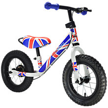 Buy Kiddimoto Super Junior Max Union Jack Balance Bike Online at johnlewis.com