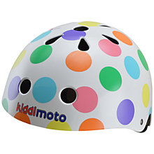 Buy Kiddimoto Pastel Dotty Helmet, Medium Online at johnlewis.com