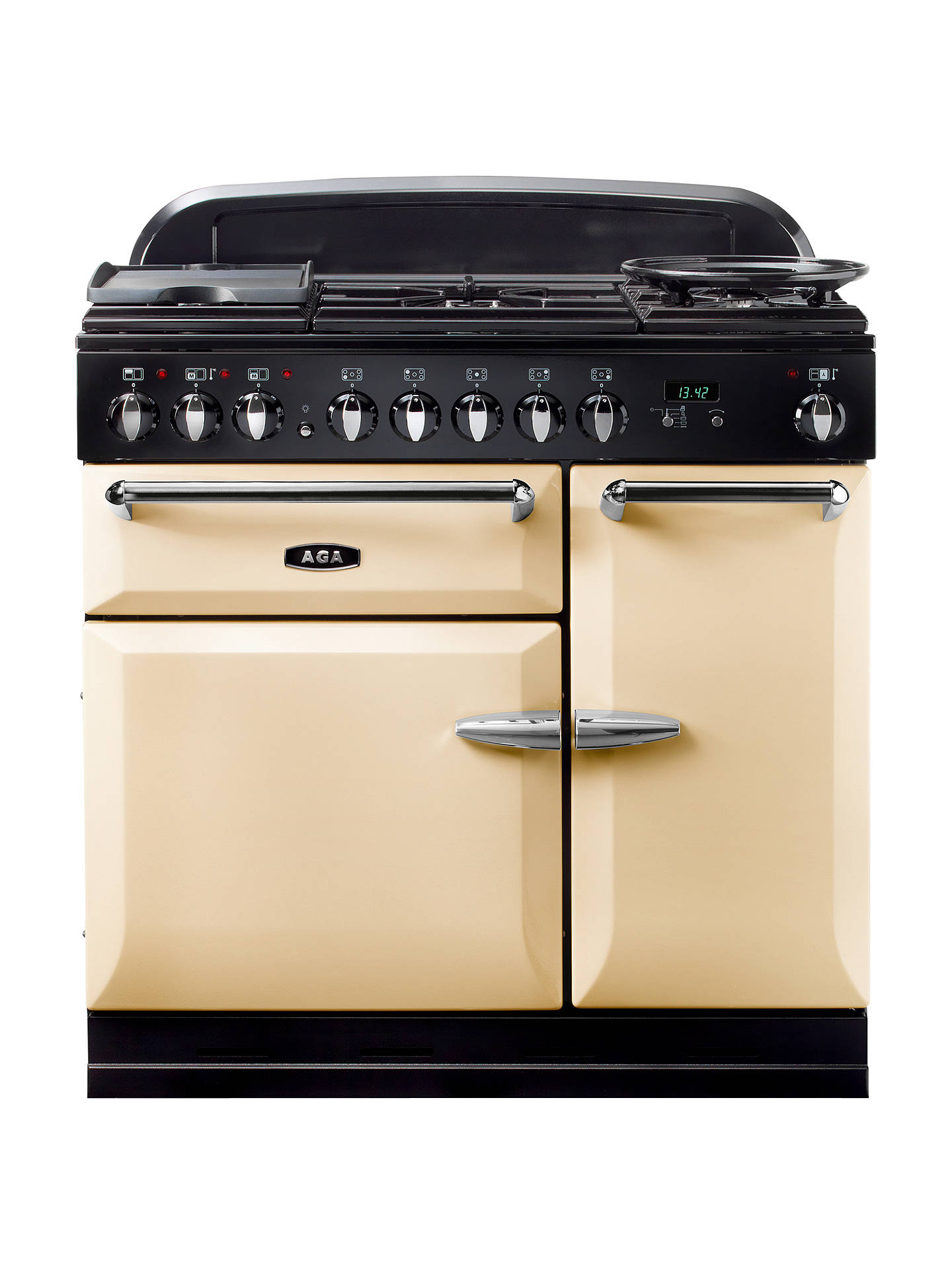 BuyAGA Masterchef XL 90 Dual Fuel Range Cooker, Cream Online at johnlewis.com