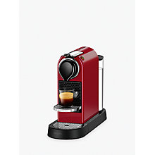 Buy Nespresso CitiZ Coffee Machine by KRUPS, Cherry Red Online at johnlewis.com
