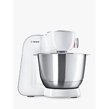 Buy Bosch MUM58200GB CreationLine Kitchen Machine Food Mixer, Silver/White Online at johnlewis.com