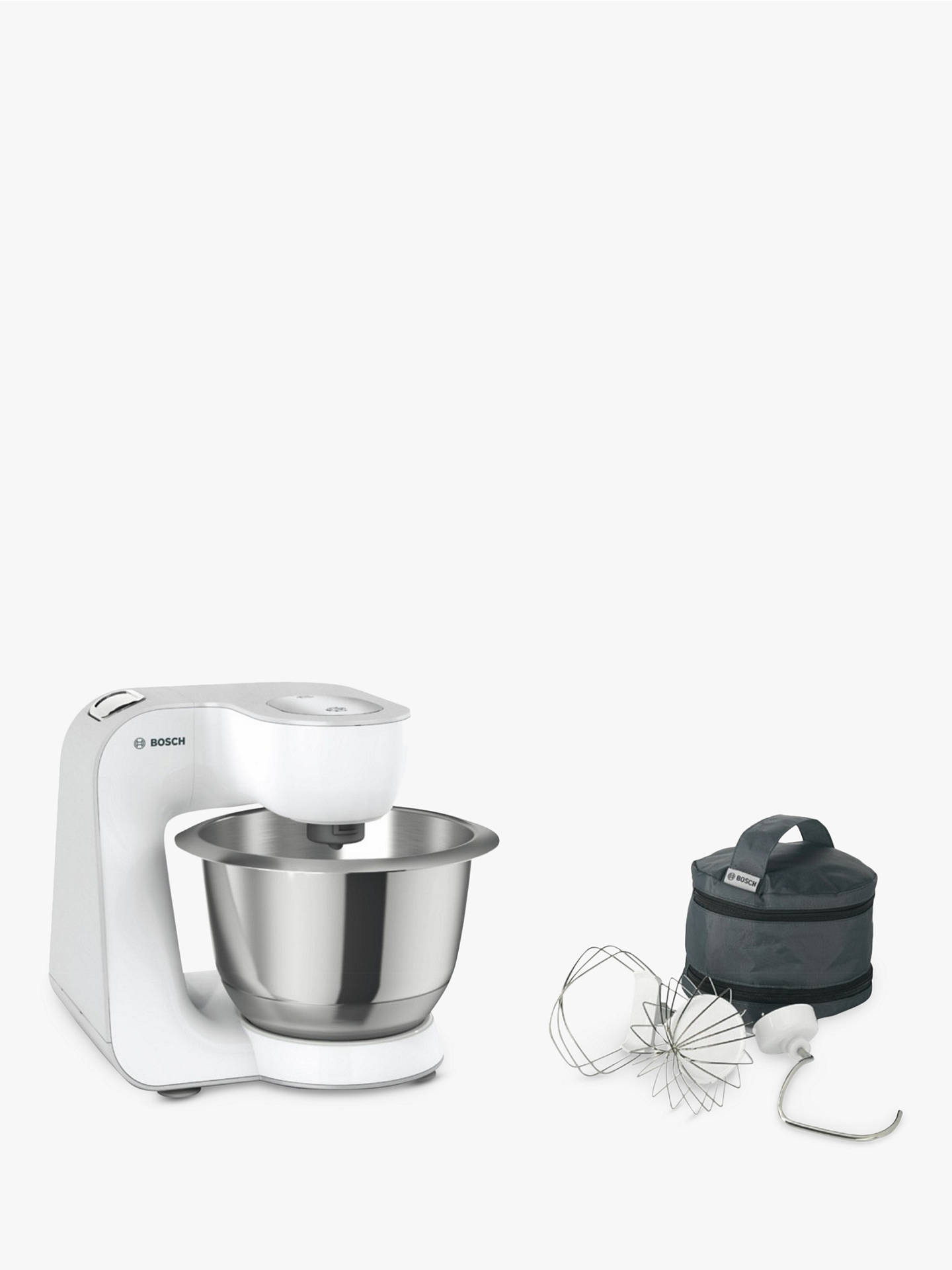 BuyBosch MUM58200GB CreationLine Kitchen Machine Food Mixer, Silver/White Online at johnlewis.com