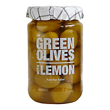 Buy Nicolas Vahe Green Olives With Lemon, 355g Online at johnlewis.com