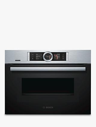 Bosch CNG6764S6B Built-In Multifunction Microwave Oven, Brushed Steel