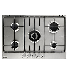 Buy Zanussi ZGG75524SA Gas Hob, Silver Online at johnlewis.com