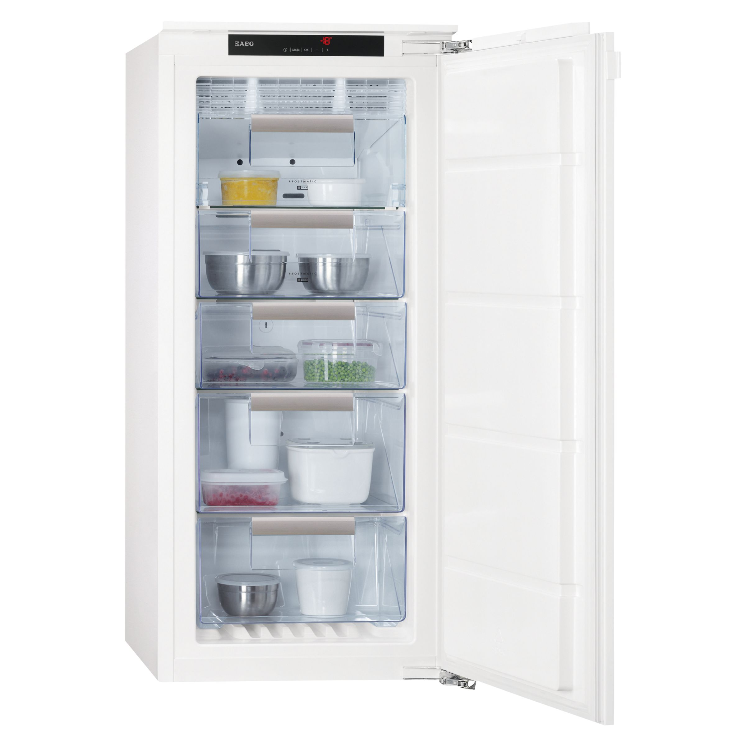 AEG AGN71200C1 Integrated Freezer, A+ Energy Rating, 56cm Wide at ...