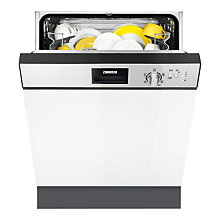 Buy Zanussi ZDI22001XA Semi-Integrated Dishwasher Online at johnlewis.com