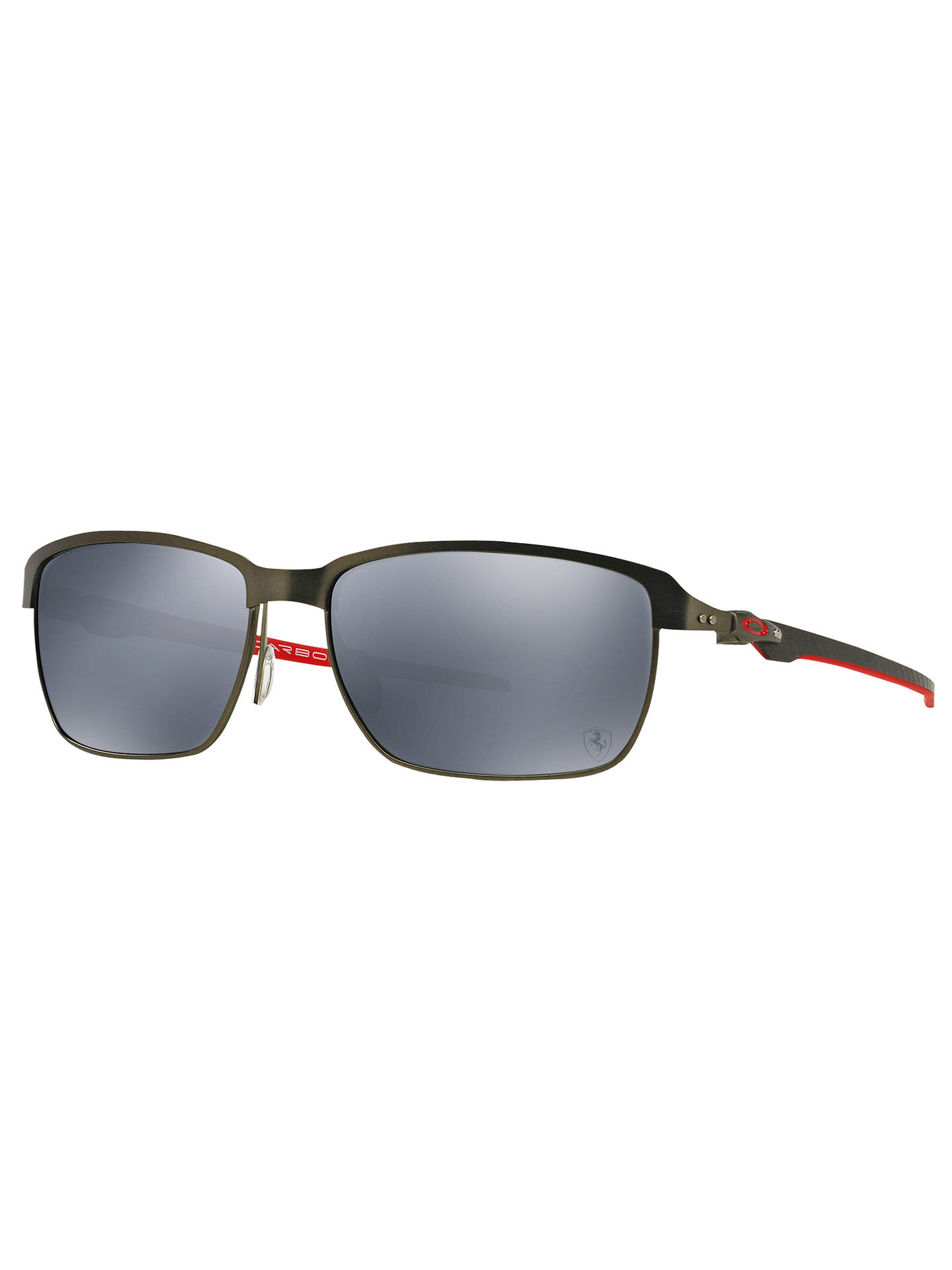 88be4c849f5 BuyOakley OO6018 Tinfoil Carbon Polarised Scuderia Ferrari Rectangular  Sunglasses Online at johnlewis.com ...