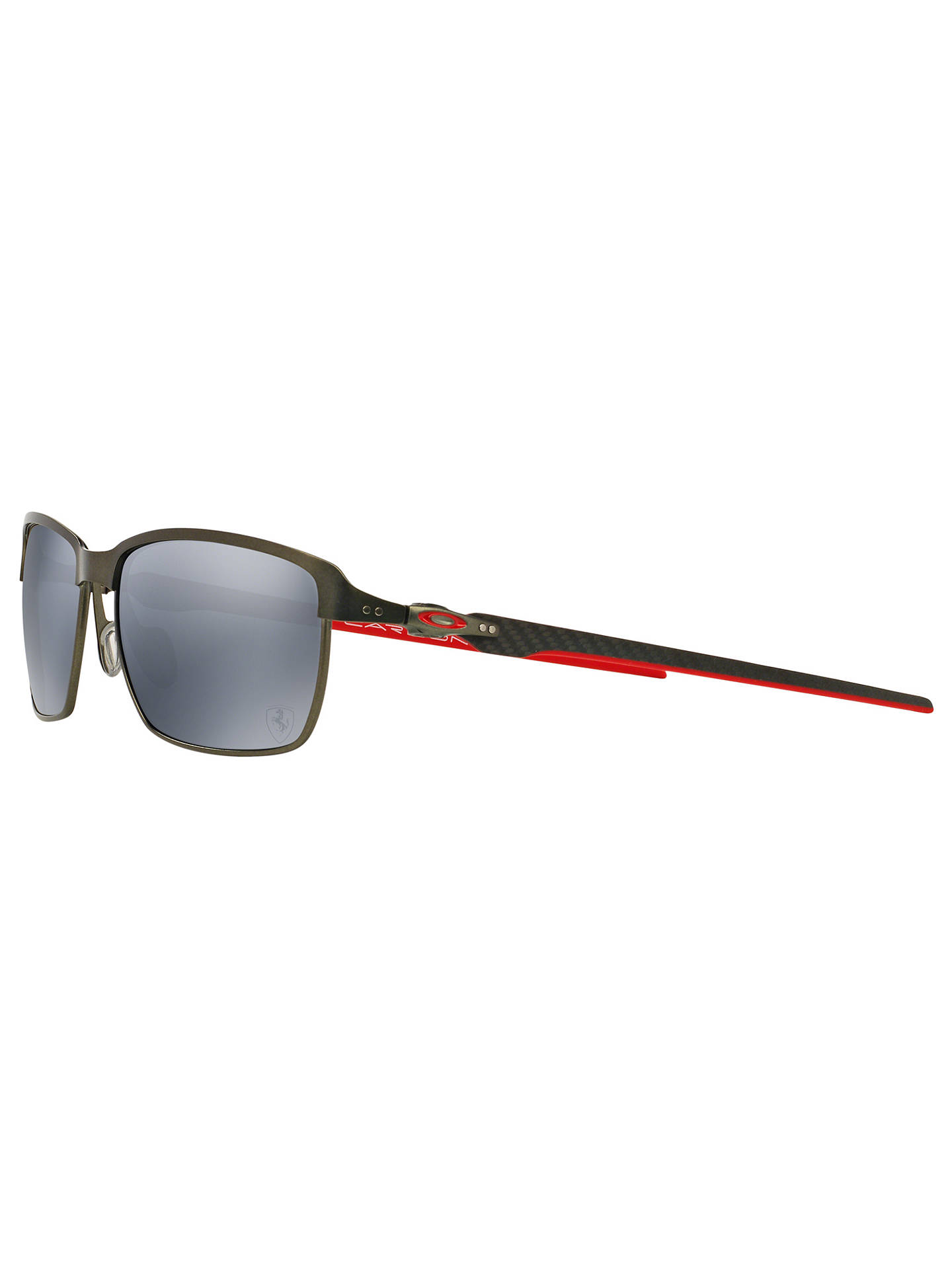 dbc85ee5c43 ... BuyOakley OO6018 Tinfoil Carbon Polarised Scuderia Ferrari Rectangular  Sunglasses Online at johnlewis.com ...
