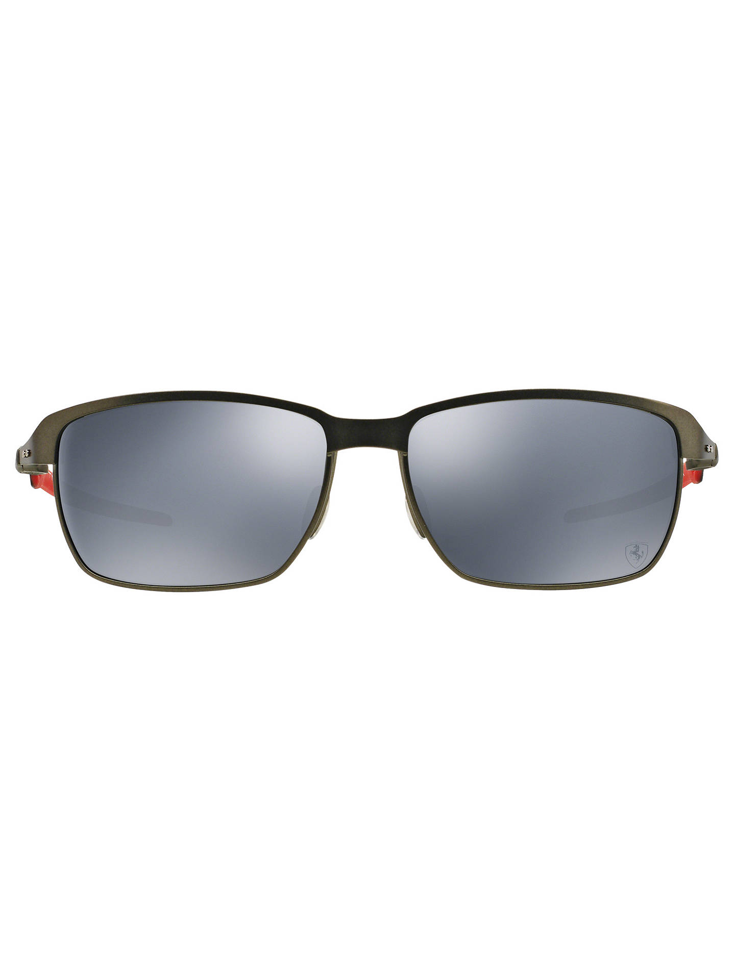 62850616ef3 ... BuyOakley OO6018 Tinfoil Carbon Polarised Scuderia Ferrari Rectangular  Sunglasses Online at johnlewis.com ...