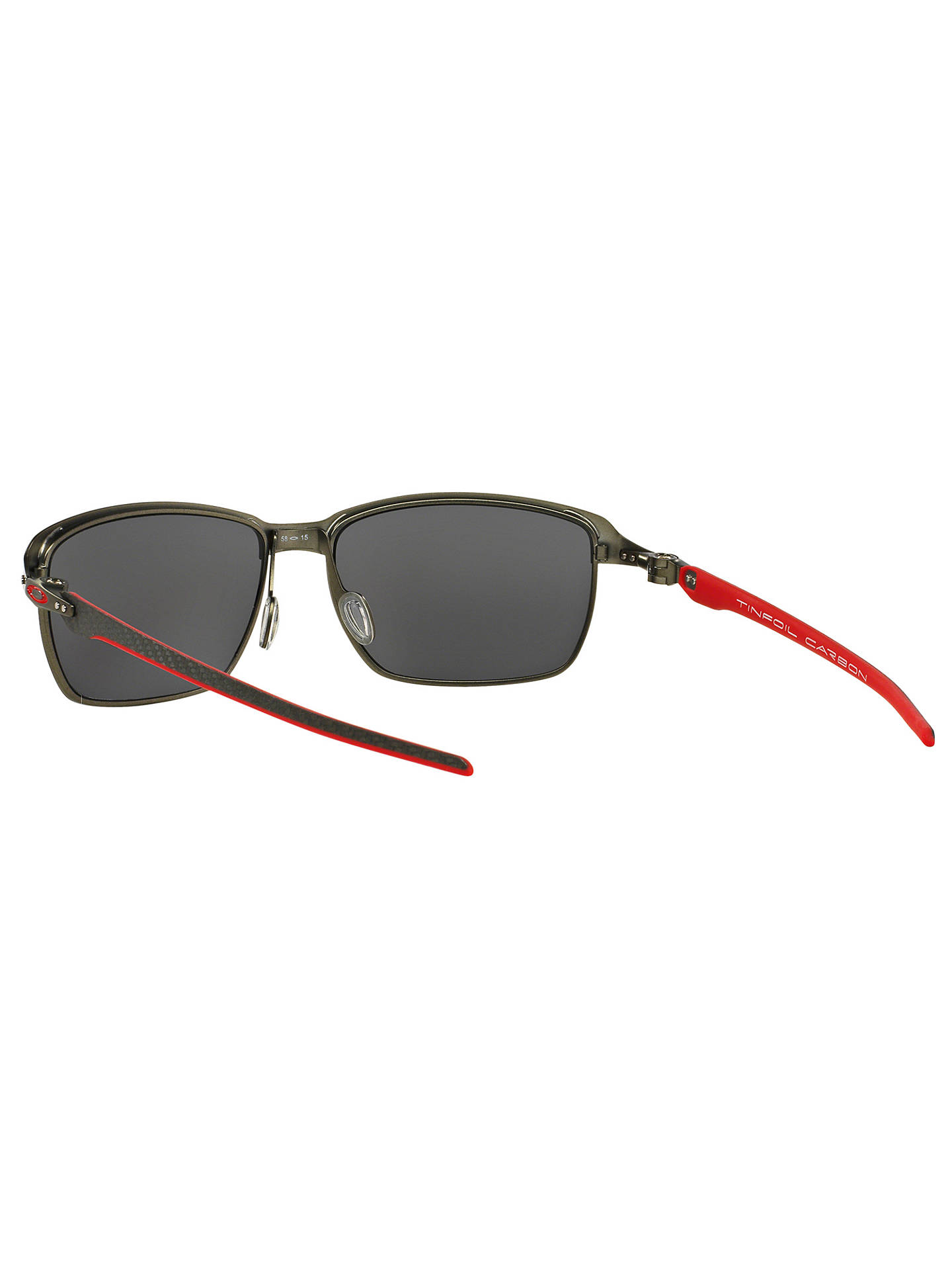 dbc85ee5c43 ... BuyOakley OO6018 Tinfoil Carbon Polarised Scuderia Ferrari Rectangular  Sunglasses Online at johnlewis.com ...