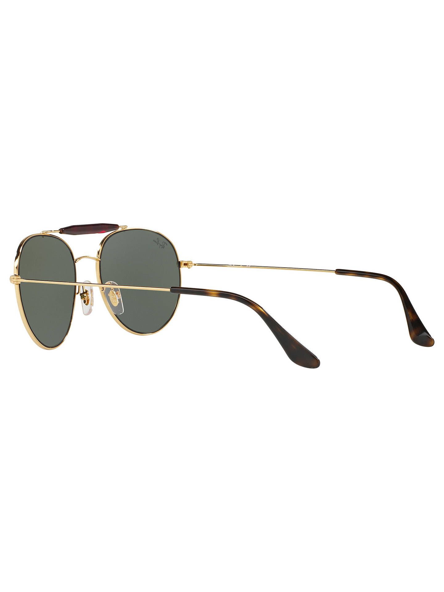 Buy Ray-Ban RB3540 Oval Sunglasses, Gold/Green Online at johnlewis.com