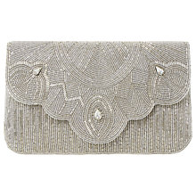 Buy Dune Ekelly Embellished Clutch Bag, Silver Online at johnlewis.com