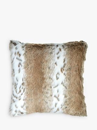 Helene Berman Cream Spot Faux Fur Cushion