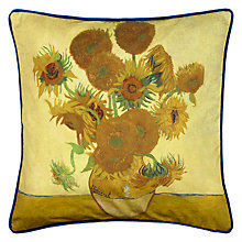 Buy Andrew Martin National Gallery Van Gogh's Sunflowers Cushion Online at johnlewis.com