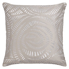 Buy Harlequin Fractal Cushion, Steel Online at johnlewis.com