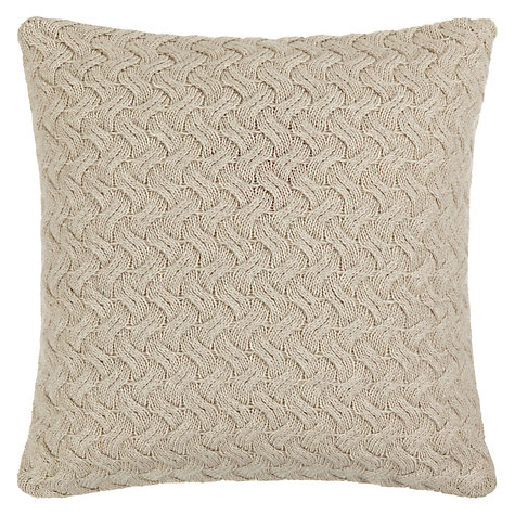 Buy Croft Collection Knitted Waves Cushion Online at johnlewis.com