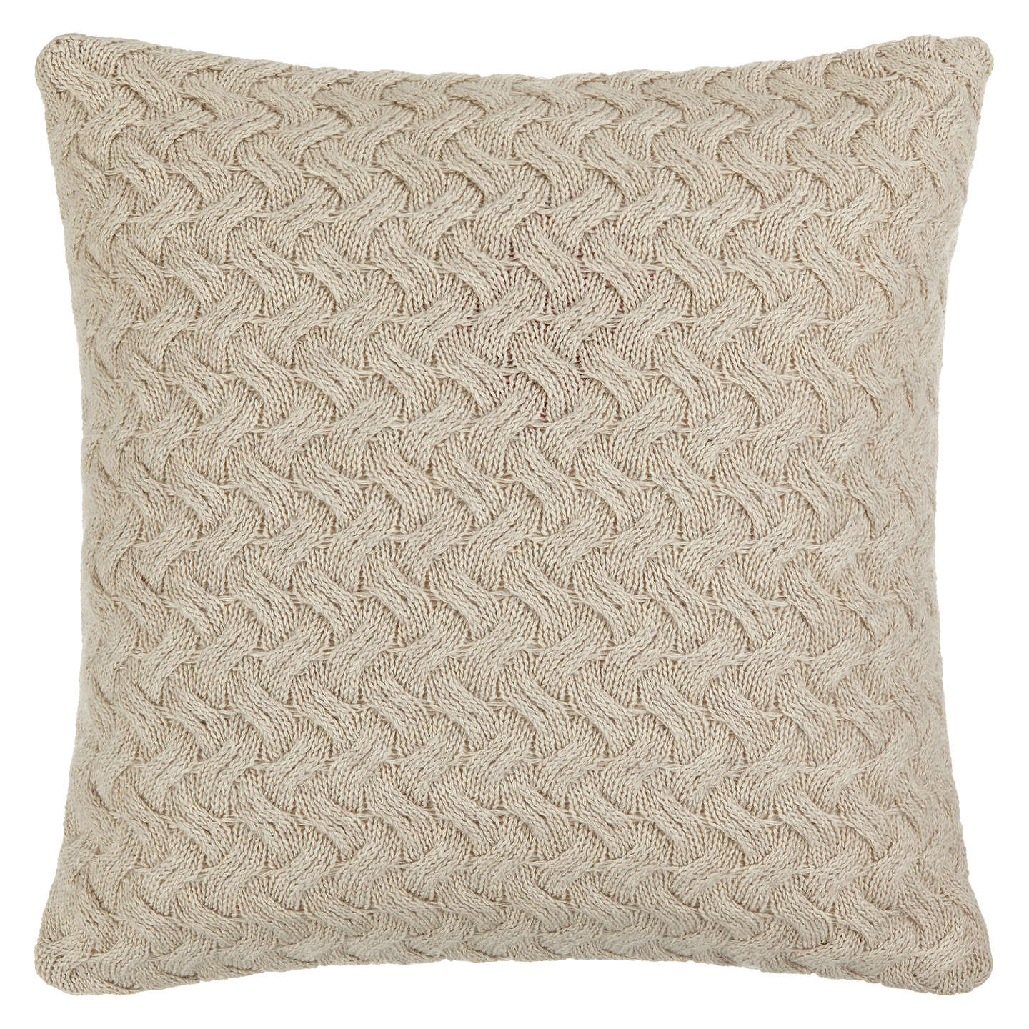 BuyCroft Collection Knitted Waves Cushion, Putty Online at johnlewis.com