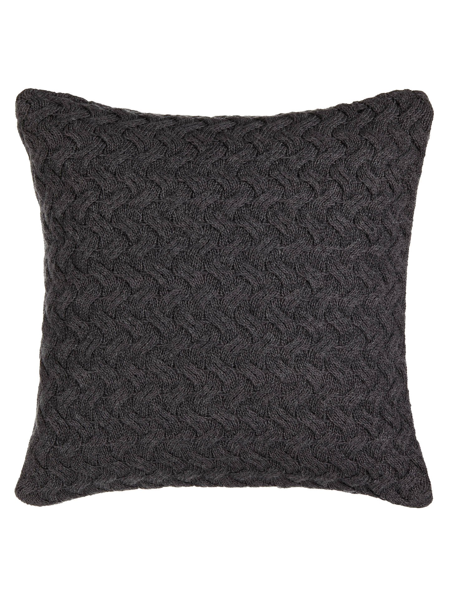 BuyCroft Collection Knitted Waves Cushion, Steel Online at johnlewis.com