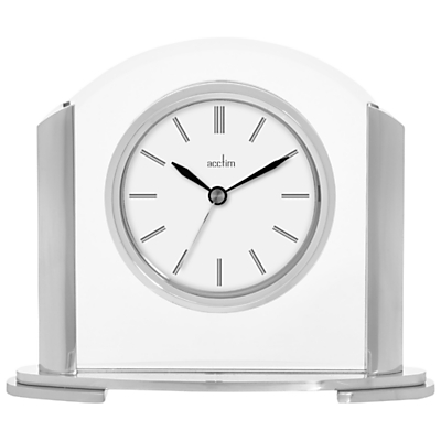 Acctim Riccia Mantel Clock, Silver