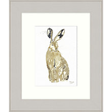 Buy Mimi Emmett - Thinking Hare Framed Print, 31 x 37cm Online at johnlewis.com