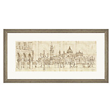 Buy Adelene Fletcher - Venetian Piazetta Framed Print, 100 x 50cm Online at johnlewis.com