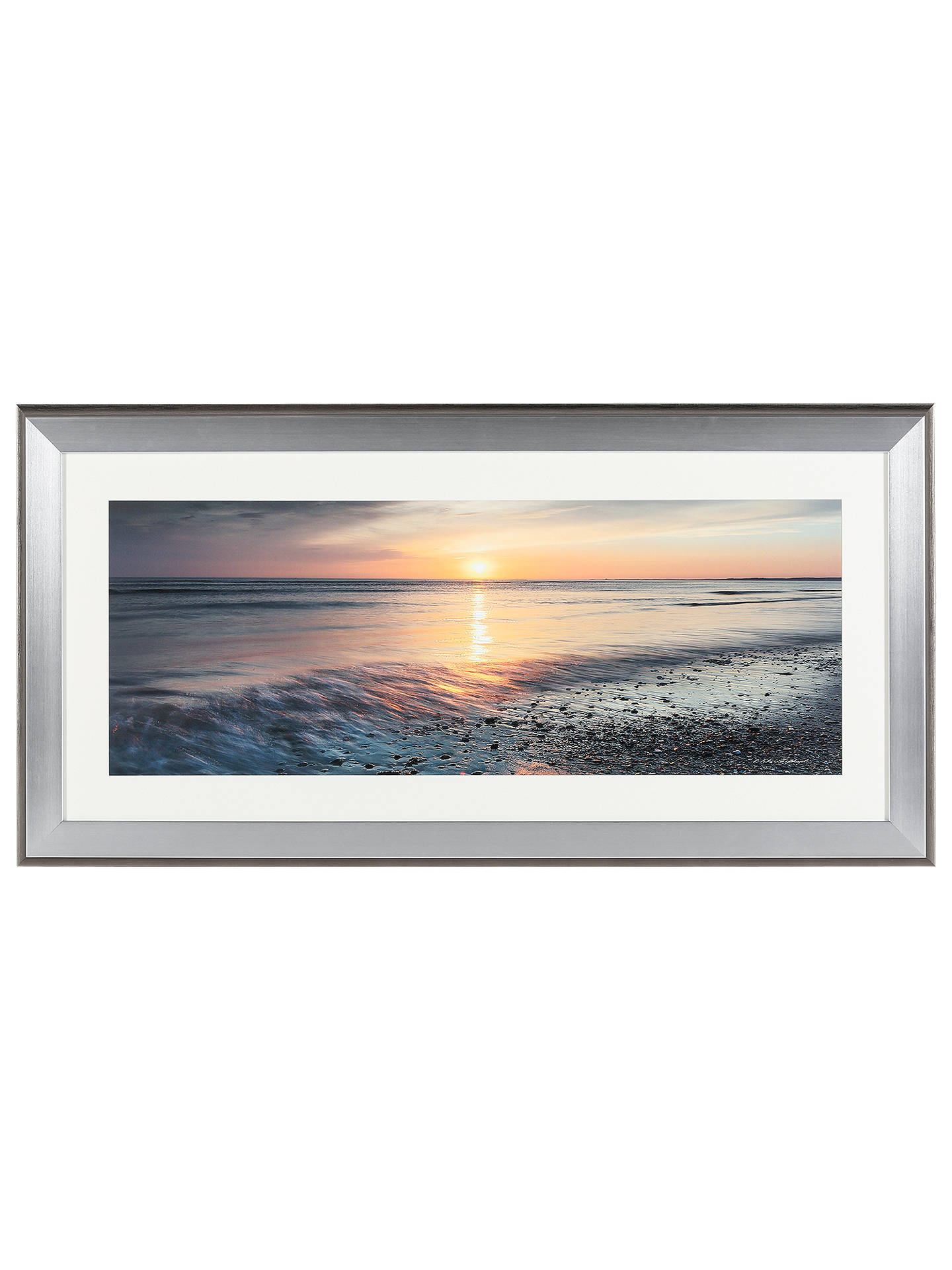 BuyMike Shepherd Embellished Ebb & Flow Framed Print, 110 x 55cm Online at johnlewis.com