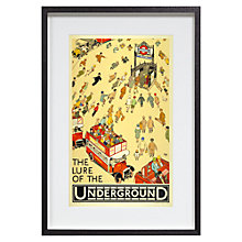 Buy London Transport Museum - The Lure Of The Underground Framed Print, 35 x 54cm Online at johnlewis.com