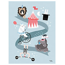 Buy Michelle Carlslund Illustration Circus Print Poster, 30 x 40cm Online at johnlewis.com