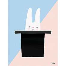 Buy Michelle Carlslund Illustration Bunny Hat Poster, 30 x 40cm Online at johnlewis.com