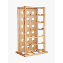 Buy John Lewis Oak Wood Tower Wine Rack, 18 Bottle Online at johnlewis.com