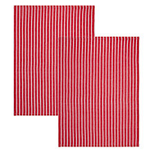 Buy John Lewis Striped Tea Towels, Set of 2, Red / White Online at johnlewis.com