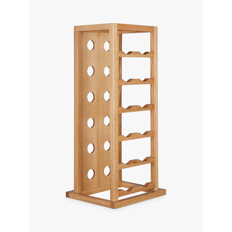 John lewis oak wood tower wine rack bottle at