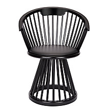 Buy Tom Dixon Fan Dining Chair, Black Online at johnlewis.com