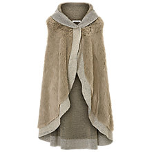 Buy Betty Barclay Faux Fur Poncho, Taupe Online at johnlewis.com