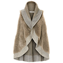 Buy Betty Barclay Faux Fur Short Poncho, Taupe Online at johnlewis.com