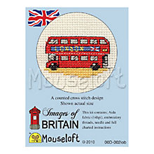 Buy Mouseloft London Bus Cross Stitch Kit Online at johnlewis.com