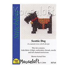 Buy Mouseloft Scottie Dog Cross Stitch Kit Online at johnlewis.com