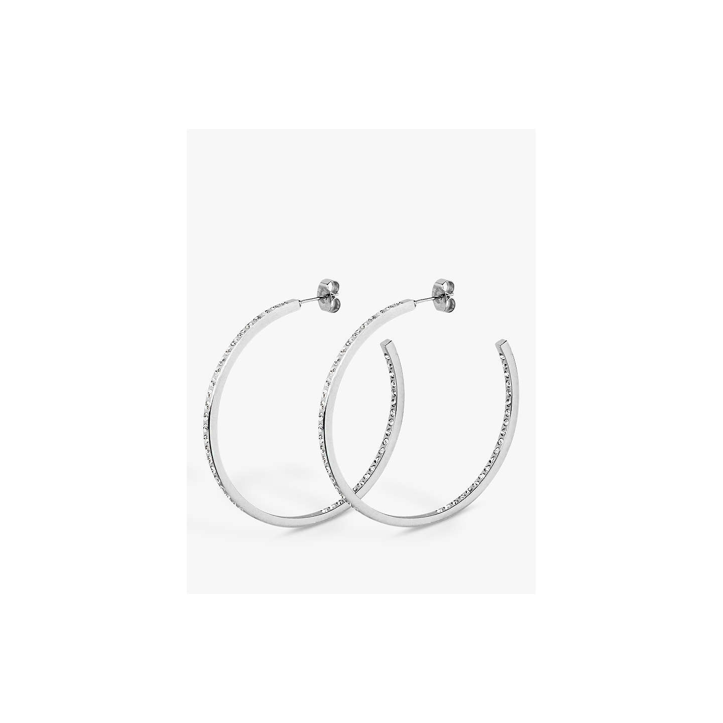 BuyDYRBERG/KERN Crystal Hoop Earrings, Silver Online at johnlewis.com