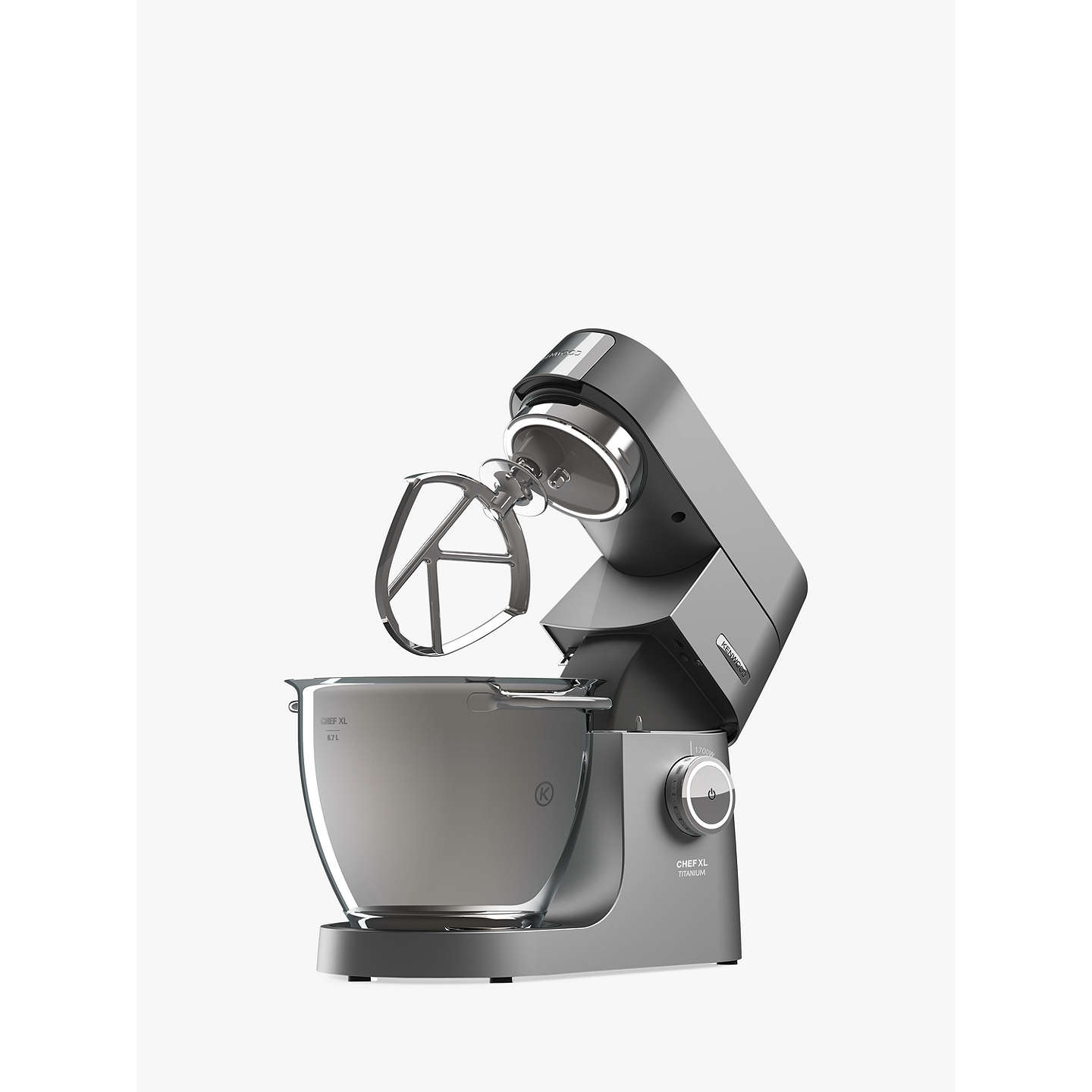 BuyKenwood KVL8300S Chef Titanium XL Stand Mixer, Silver Online at johnlewis.com