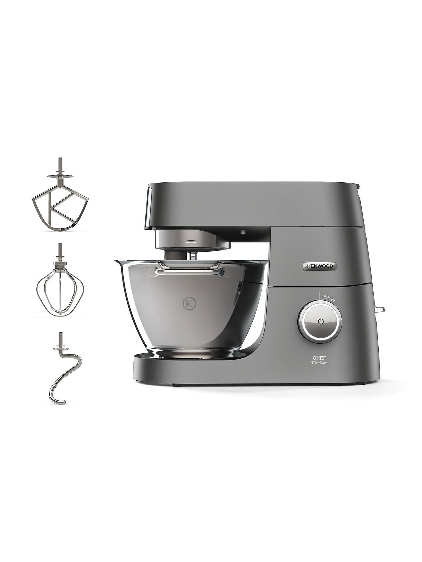 Buy Kenwood KVC7300S Chef Titanium Stand Mixer, Silver Online at johnlewis.com
