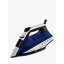Buy Russell Hobbs 22522 Auto Steam Pro-Ceramic Iron, Blue/White Online at johnlewis.com