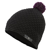 Buy Ronhill Vizion Bobble Hat, One Size, Black Online at johnlewis.com