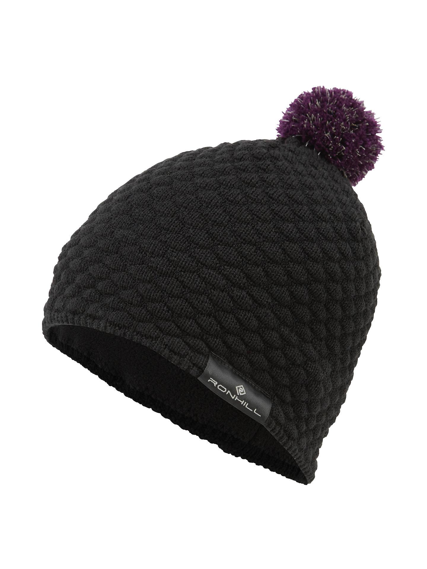 9f0fa30e Buy Ronhill Vizion Bobble Hat, One Size, Black Online at johnlewis.com