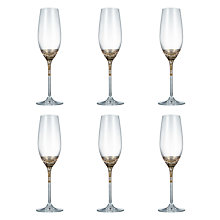 Buy John Lewis Vino Spiral Flute Glasses, Set of 6John Lewis Vino Spiral Flute Glasses, Set of 6, Platinum, 200ml Online at johnlewis.com