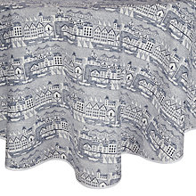 Buy John Lewis Nordic Coast Wipe Clean Round Tablecloth, Dia.180cm Online at johnlewis.com